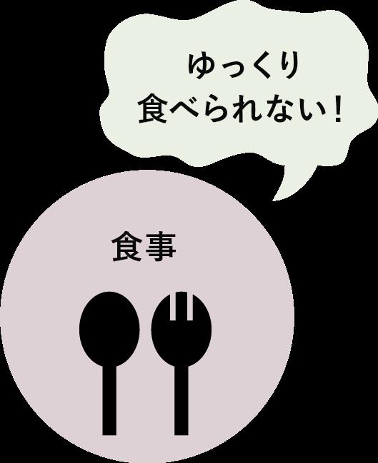 食事ーゆっくり食べられない
